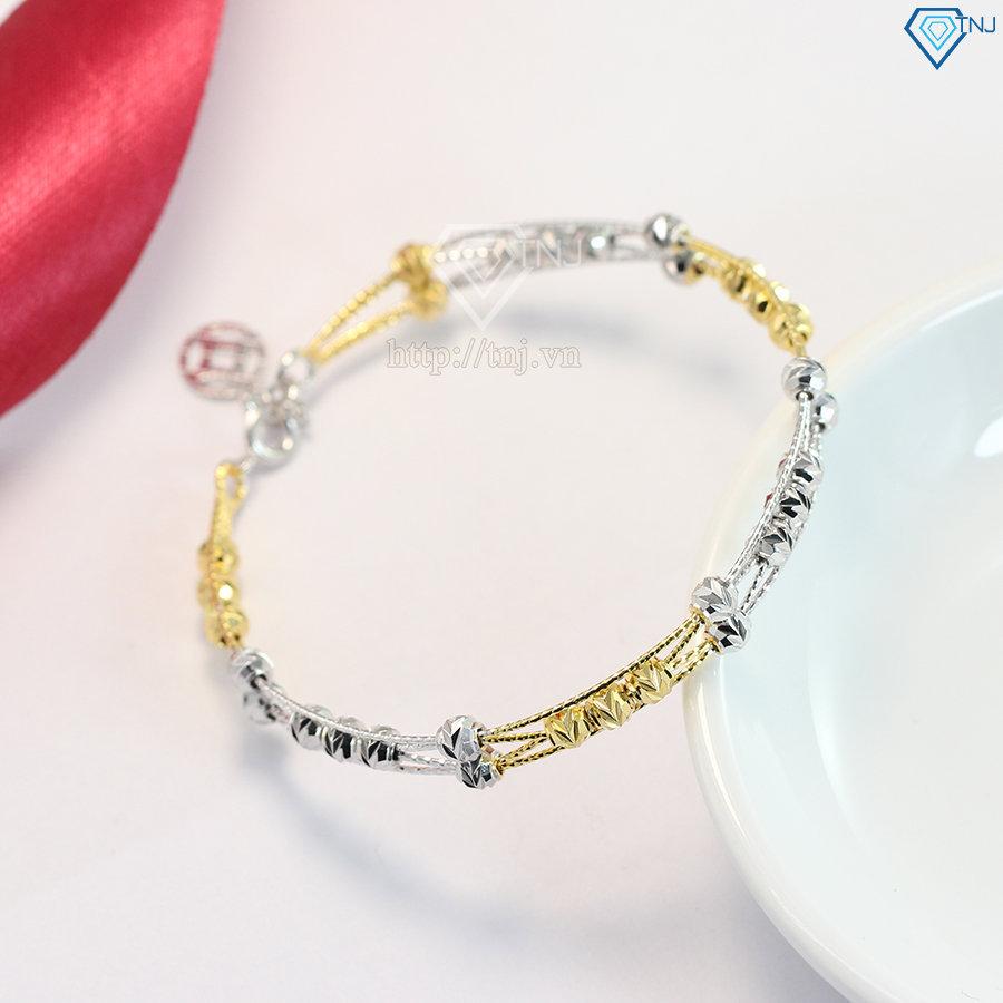 Lắc tay kiềng bạc nữ xi mạ vàng đẹp LTN0118