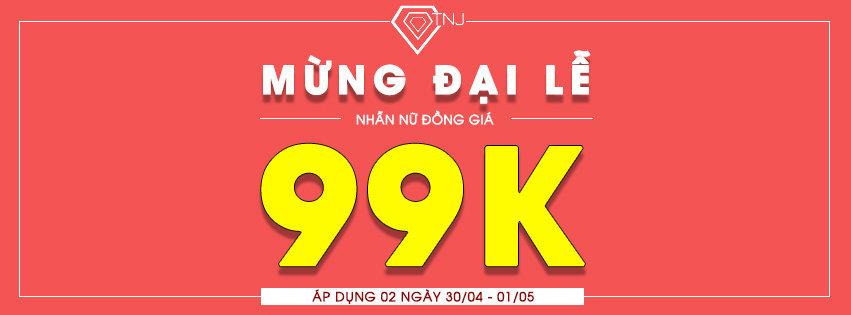 giảm giá sốc nhẫn nữ đồng giá 99K