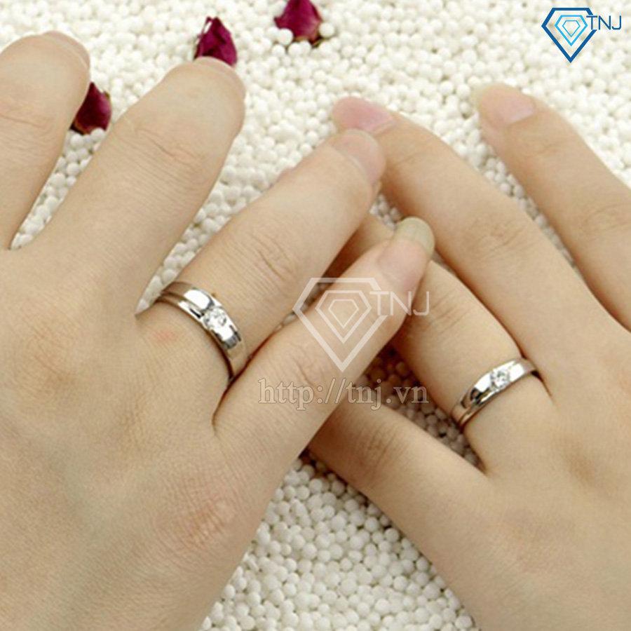 Nhẫn đôi bạc nhẫn cặp bạc đơn giản ND0015