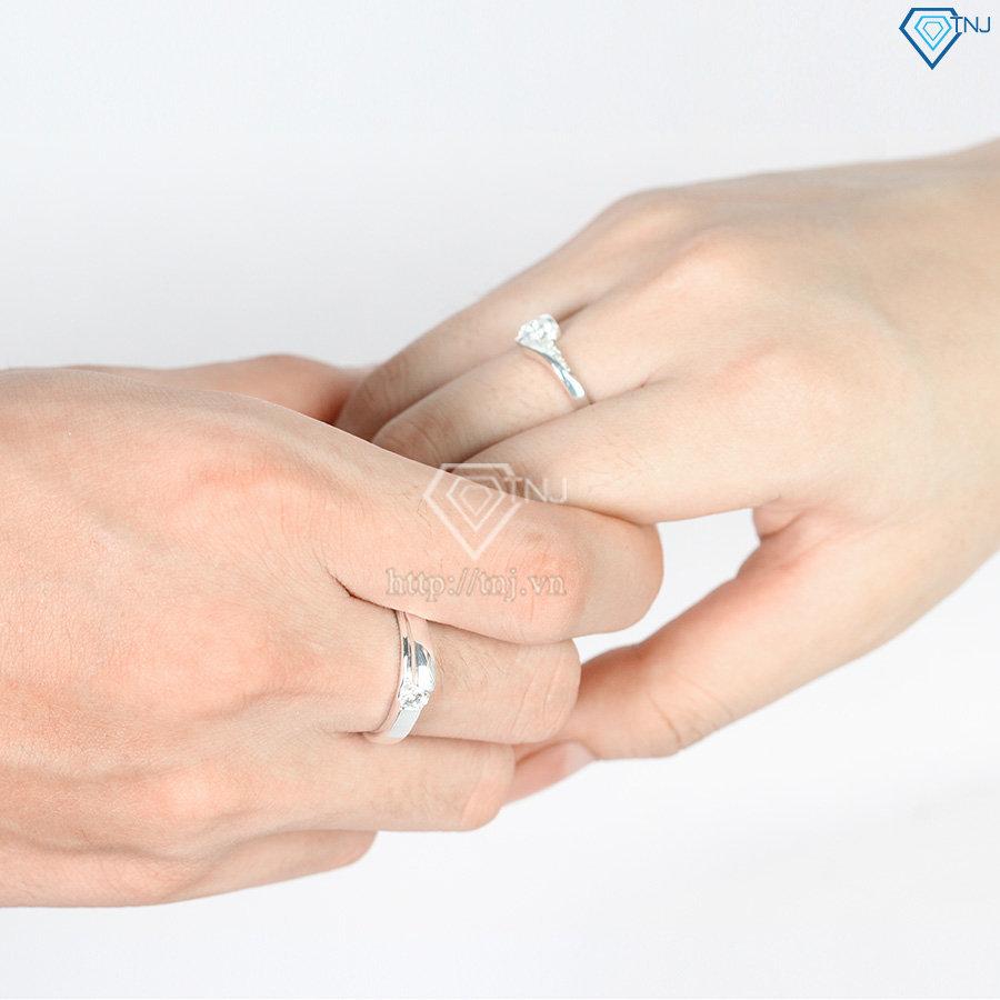Nhẫn đôi bạc nhẫn cặp bạc đẹp ND0048