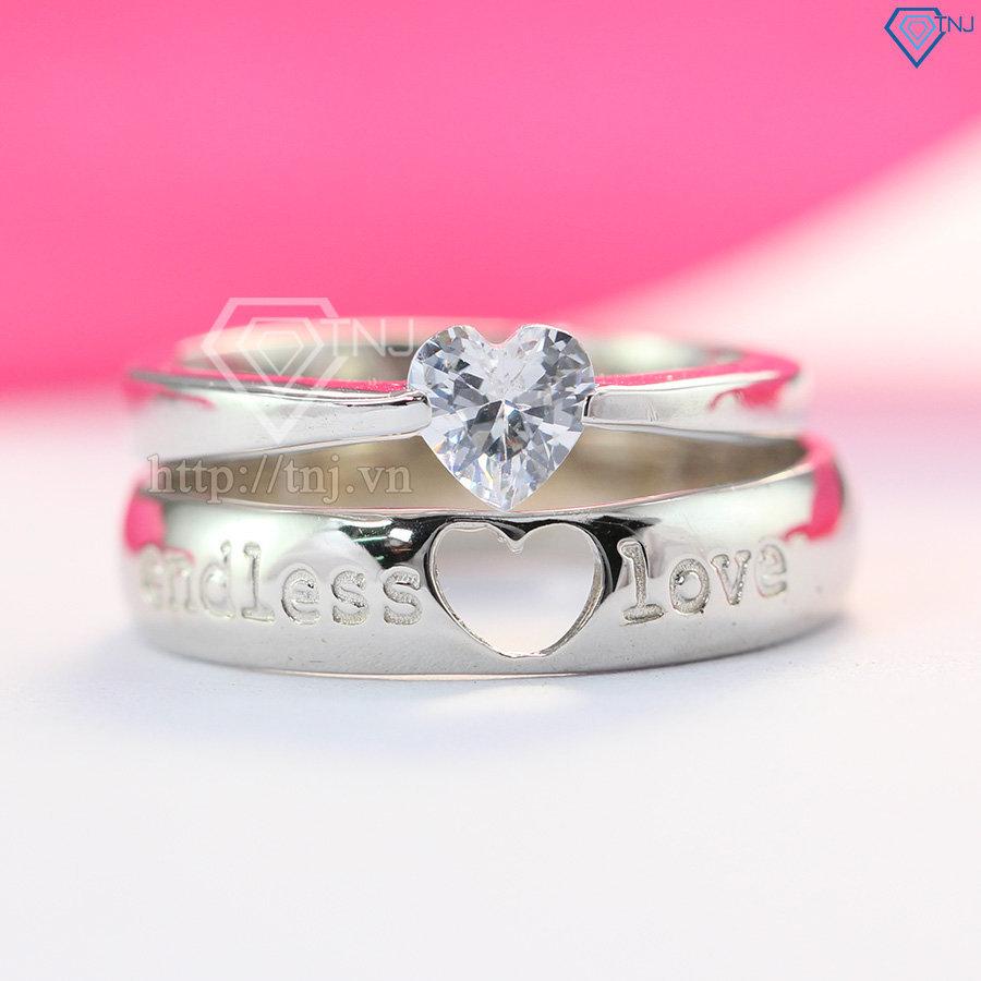 Nhẫn đôi bạc nhẫn cặp bạc cho tình nhân ND0060