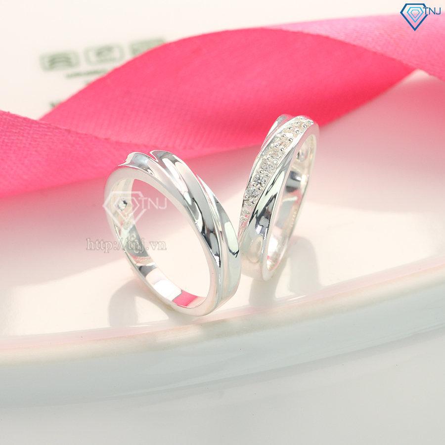 Nhẫn đôi bạc nhẫn cặp bạc đẹp giá rẻ ND0092