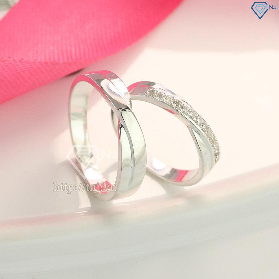 Nhẫn đôi bạc nhẫn cặp bạc cao cấp ND0136