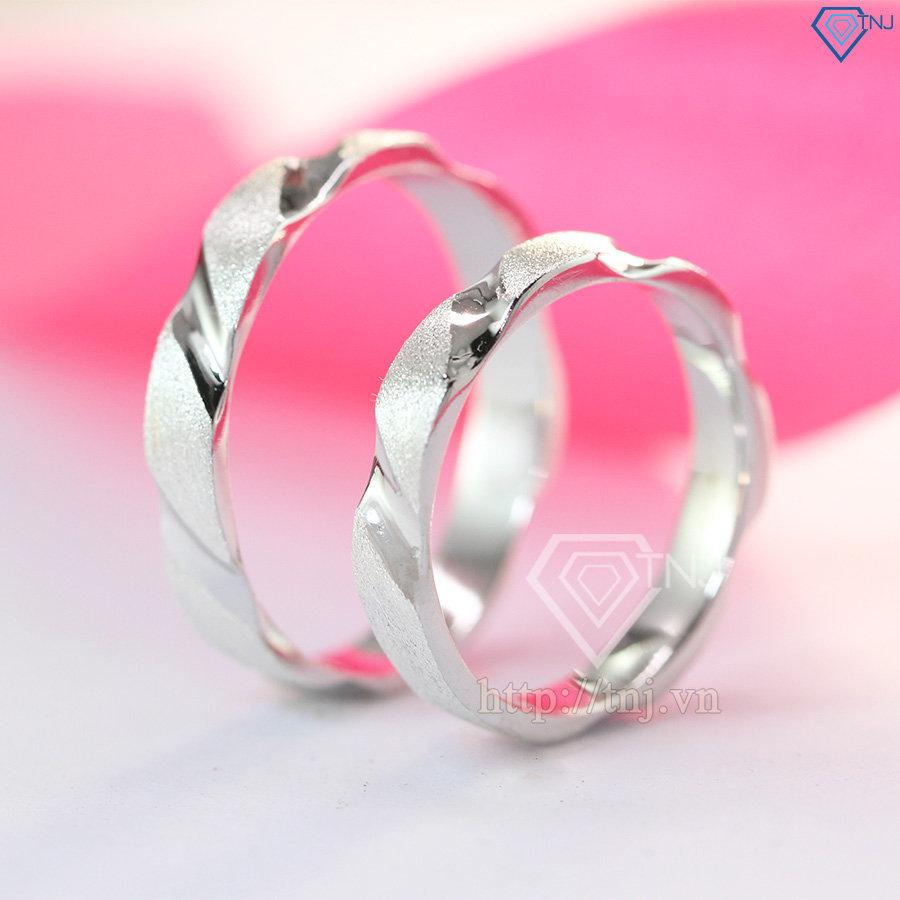 Nhẫn đôi bạc nhẫn cặp bạc đẹp đơn giản ND0142