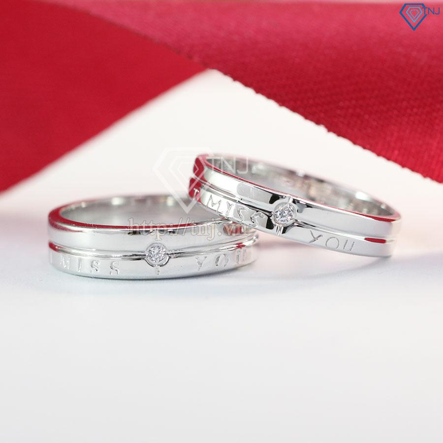nhẫn đôi bạc nhẫn cặp bạc đẹp