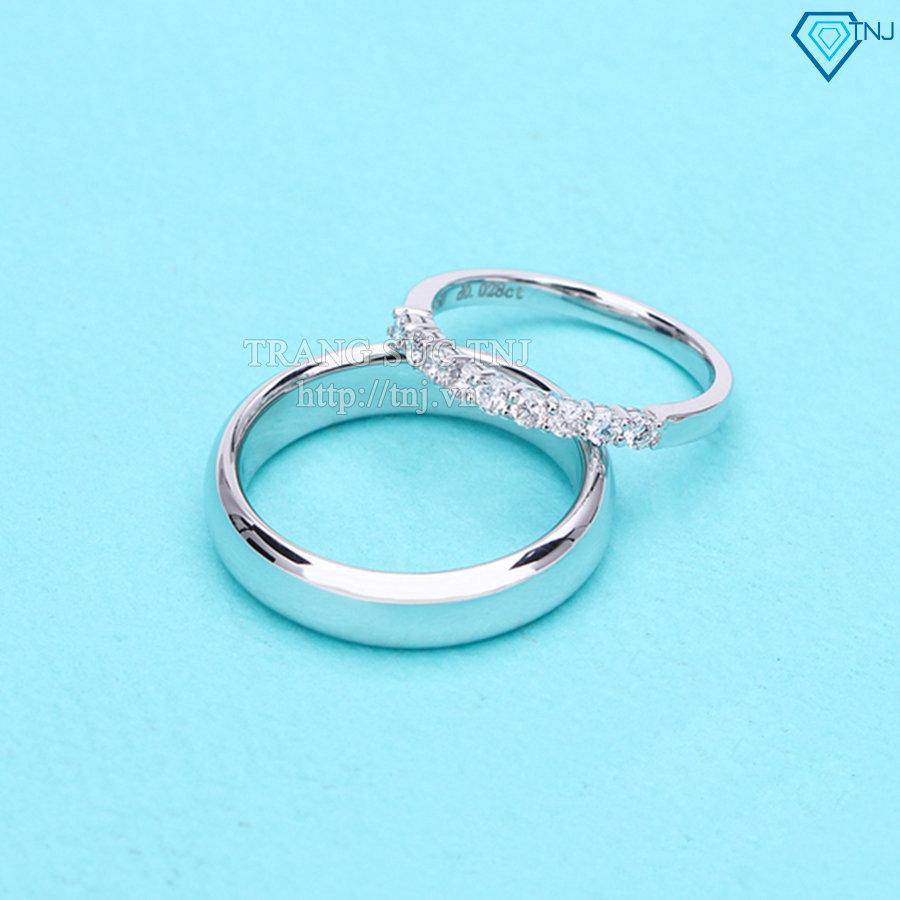 Nhẫn đôi bạc nhẫn cặp bạc đơn giản ND0152