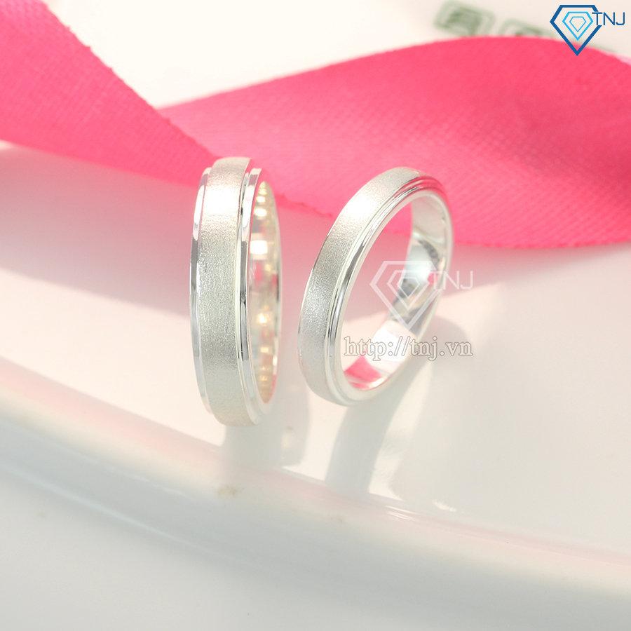 Nhẫn đôi bạc nhẫn cặp bạc trơn ND0160