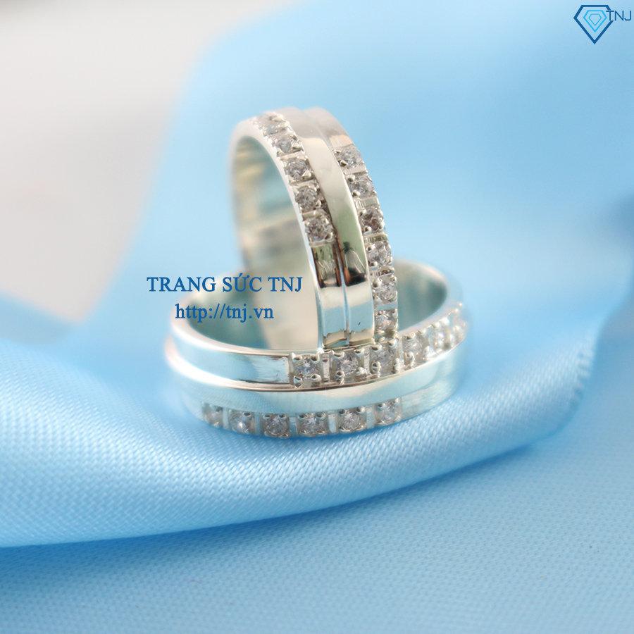 Nhẫn đôi bạc nhẫn cặp bạc đẹp ND0163