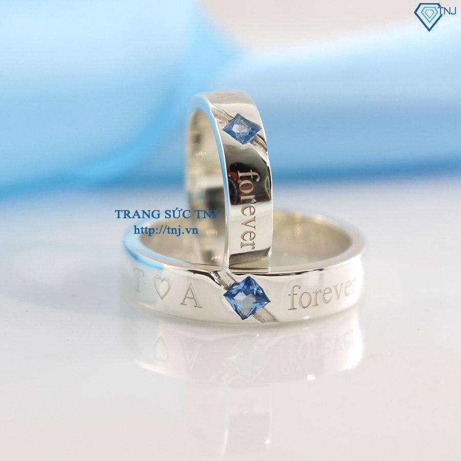 Nhẫn bạc đôi khắc tên theo yêu cầu ND0164