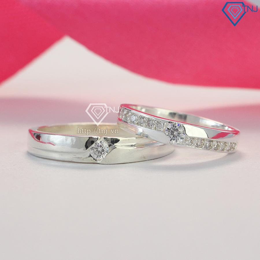 Nhẫn đôi bạc nhẫn cặp bạc đẹp ND0165