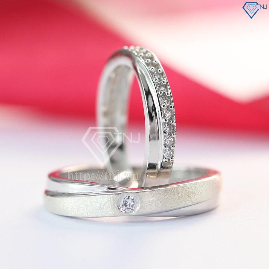 Nhẫn đôi bạc nhẫn cặp bạc đẹp ND0166