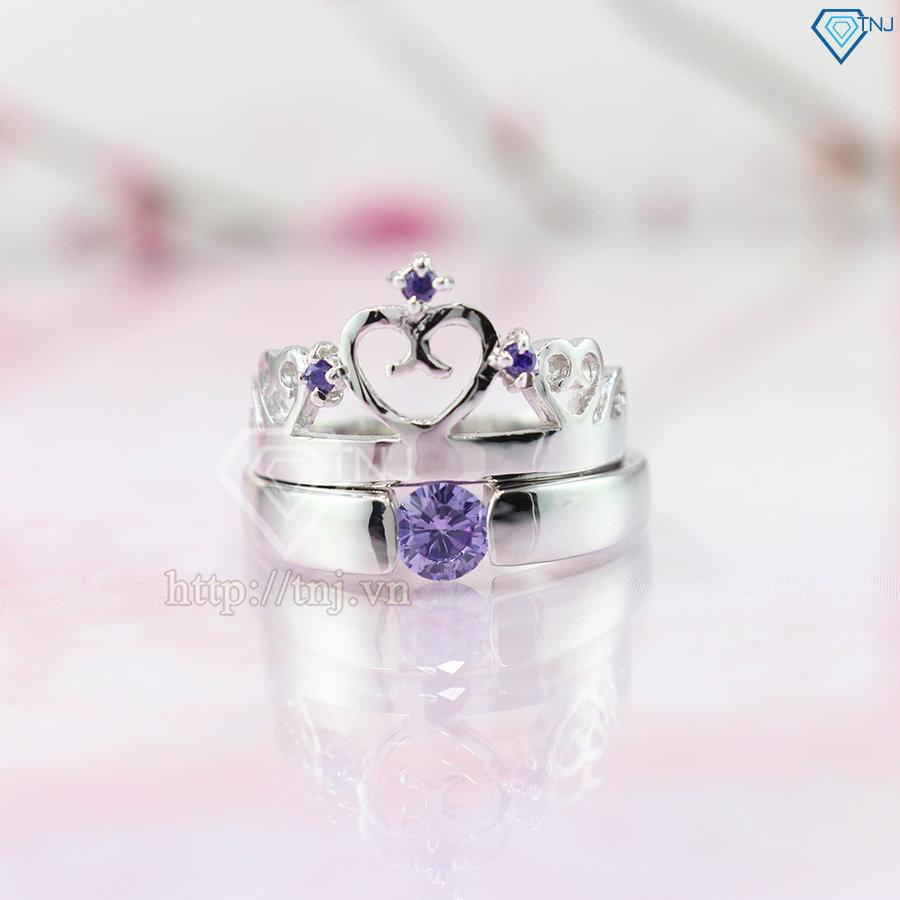 Nhẫn đôi bạc nhẫn cặp bạc vương miện ND0167