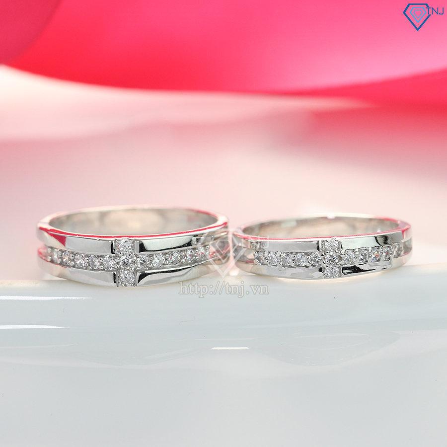 Nhẫn đôi bạc nhẫn cặp bạc đẹp ND0171