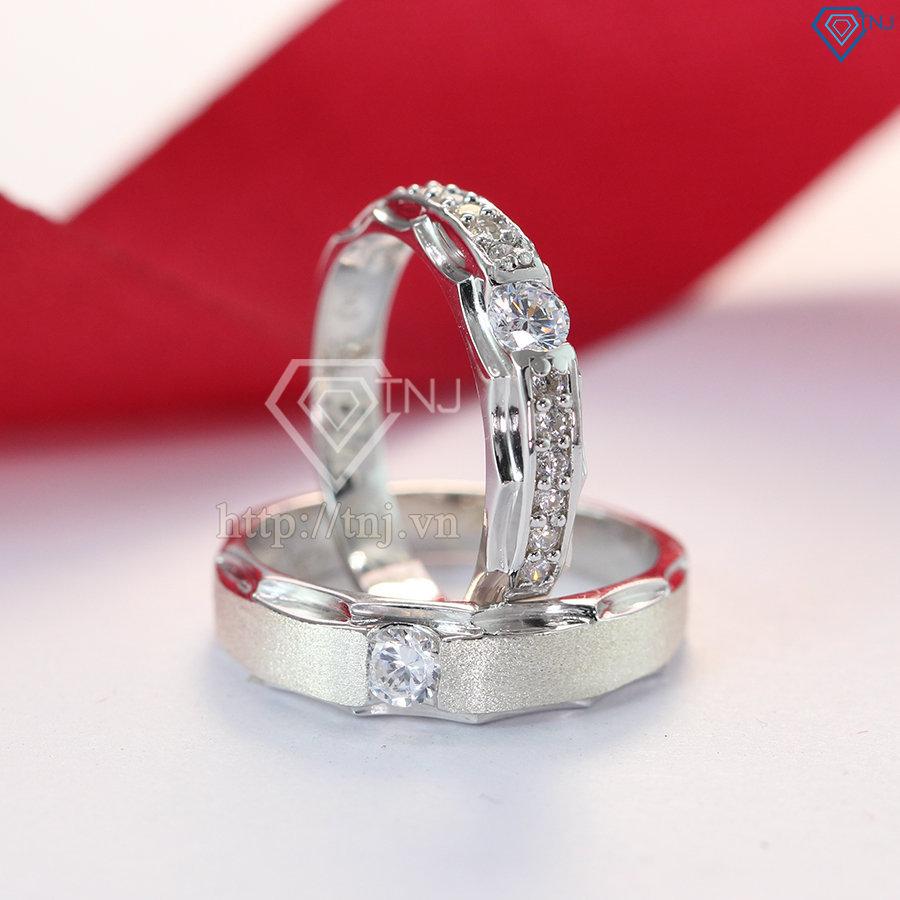 Nhẫn đôi bạc nhẫn cặp bạc đẹp ND0176