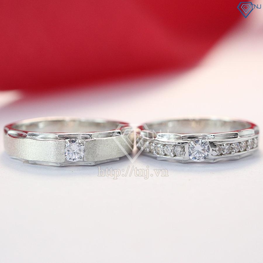 nhẫn đôi bạc nhẫn cặp bạc đep khắc tên ND0176