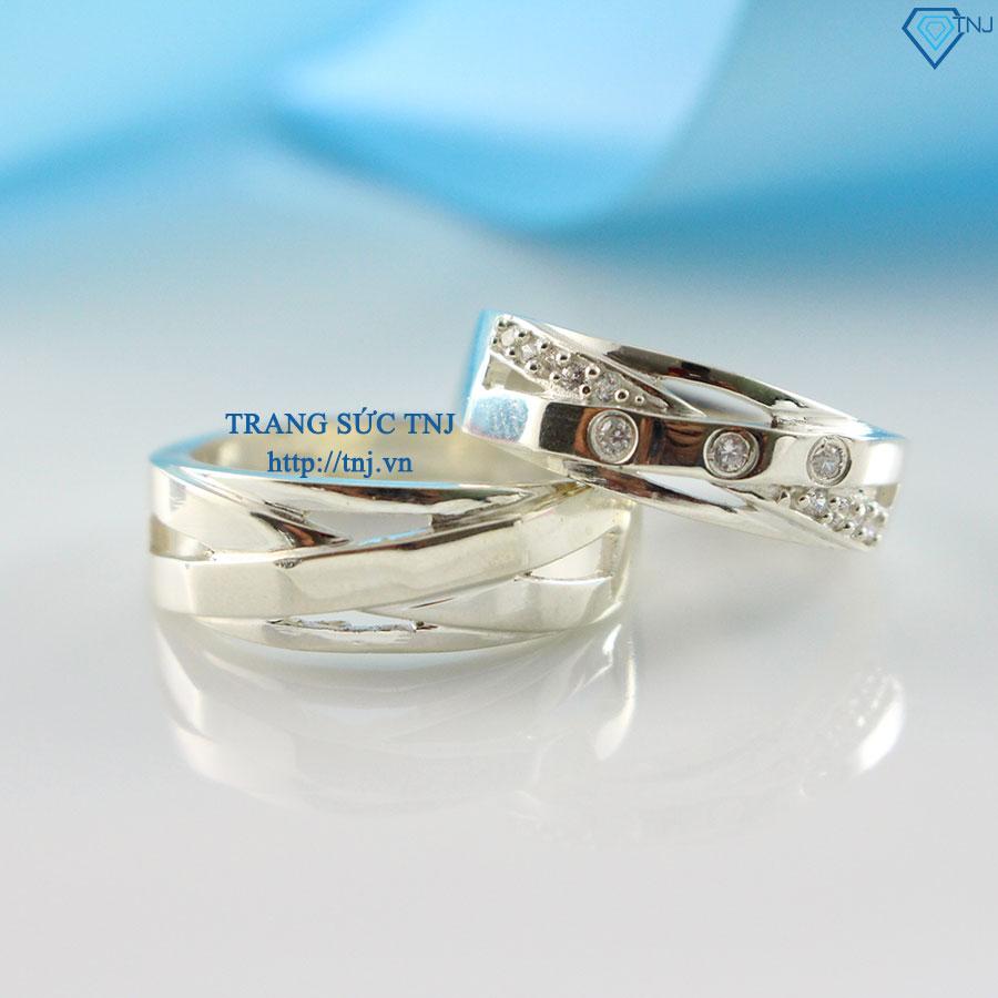 Nhẫn đôi bạc nhẫn cặp bạc đẹp ND0186