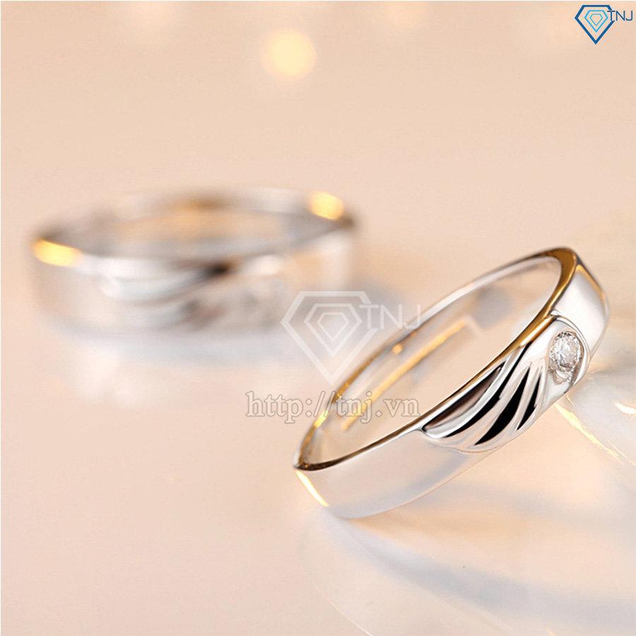 Nhẫn đôi bạc nhẫn cặp bạc cánh thiên thần ND0188
