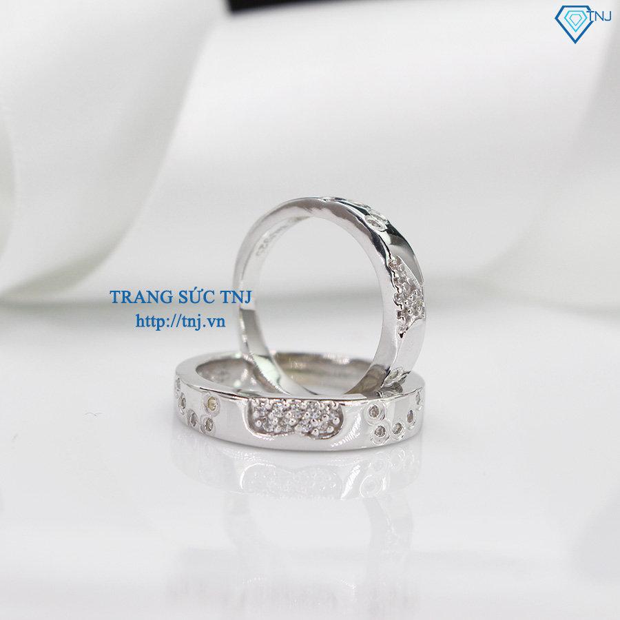 Nhẫn đôi bạc nhẫn cặp bạc ghép hình trái tim ND0189