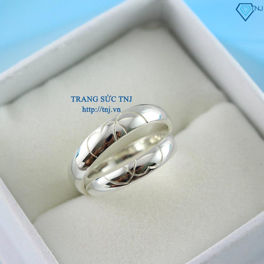 Nhẫn đôi bạc nhẫn cặp bạc đơn giản ND0193