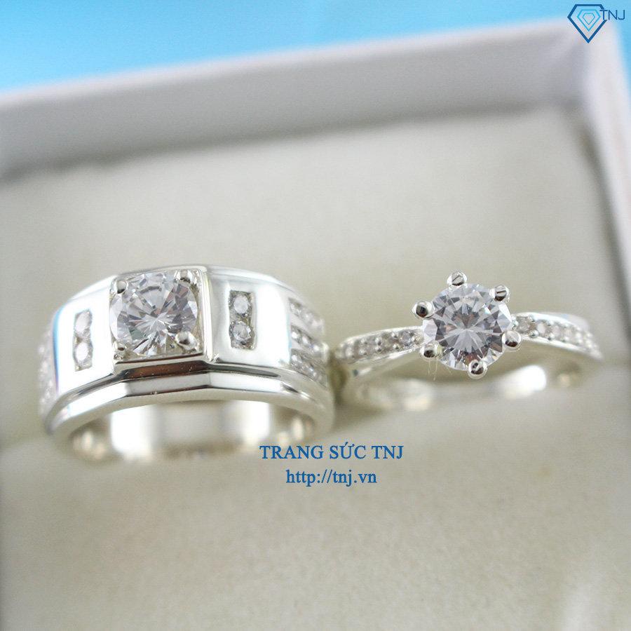 Nhẫn đôi bạc nhẫn cặp bạc đẹp khắc tên ND0224