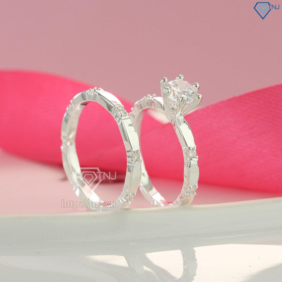 Nhẫn đôi bạc nhẫn cặp bạc đẹp thiết kế cách điệu độc đáo ND0229