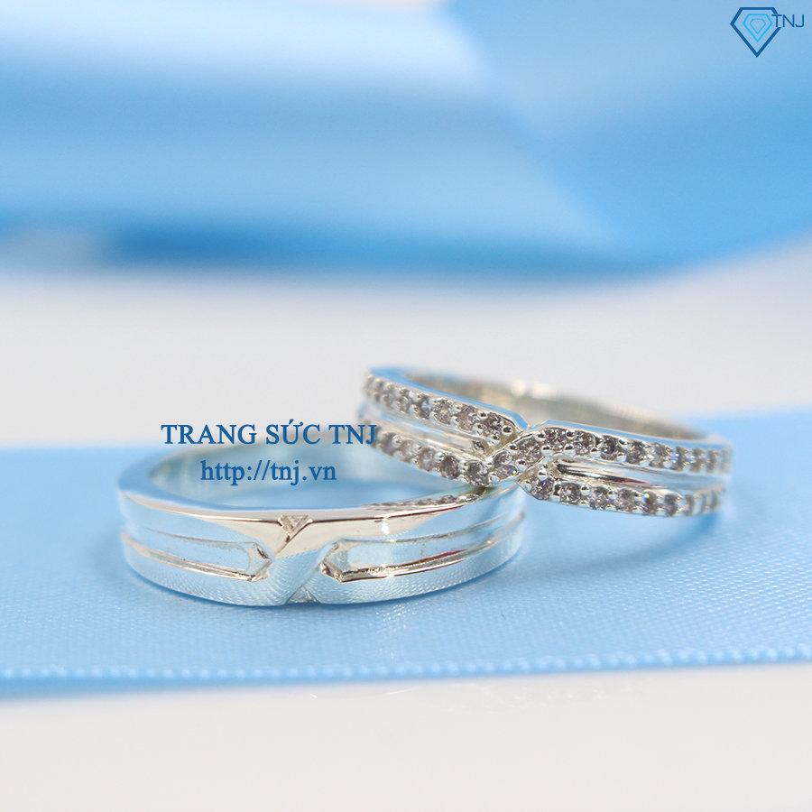 Nhẫn đôi bạc nhẫn cặp bạc đẹp khắc tên ND0255