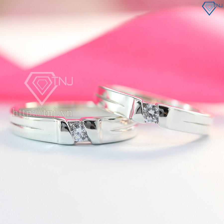 Nhẫn đôi bạc nhẫn cặp bạc đẹp ND0257