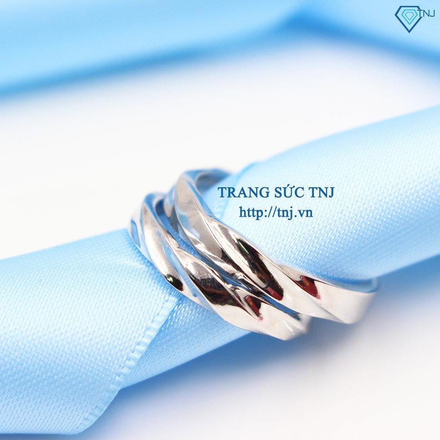 Nhẫn đôi bạc nhẫn cặp bạc khắc tên ND0262
