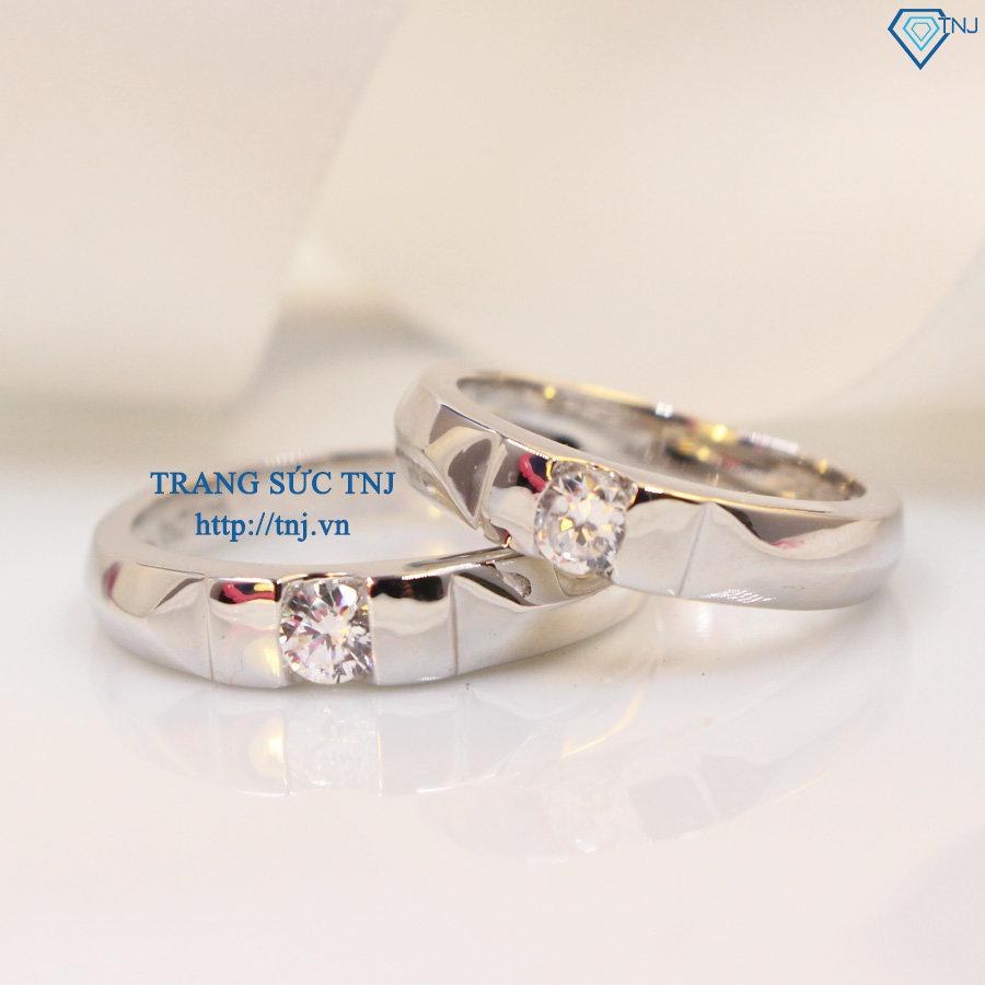 Nhẫn đôi bạc nhẫn cặp bạc đẹp khắc tên ND0266
