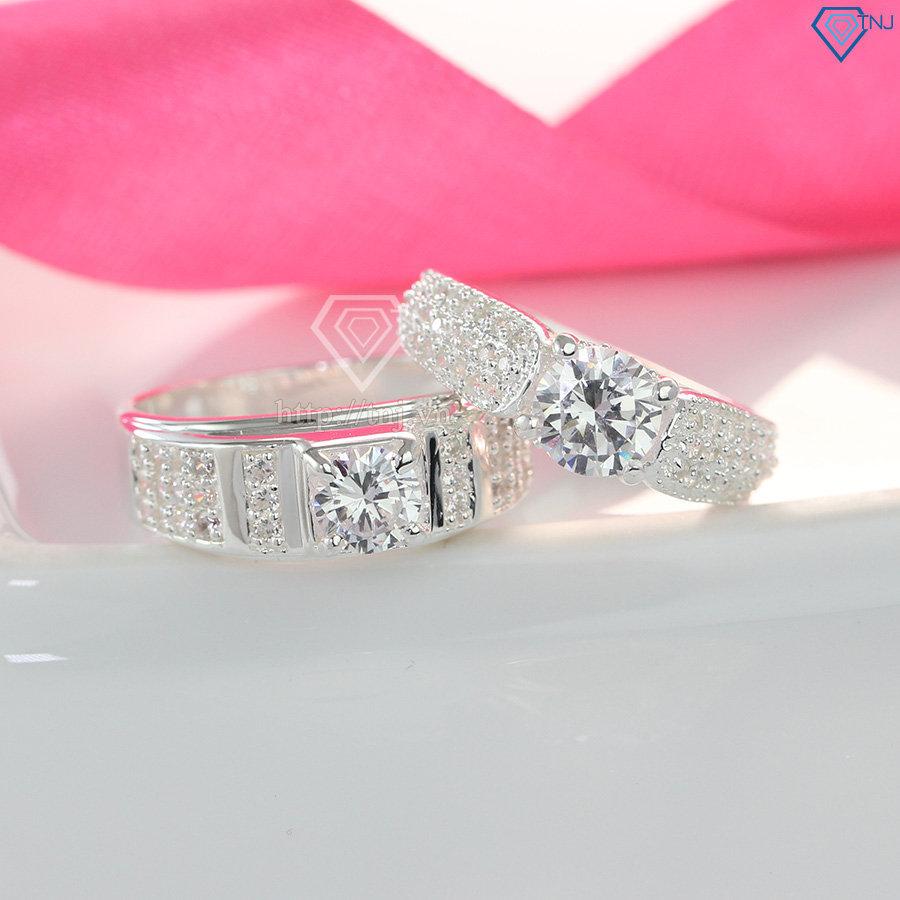 Nhẫn đôi bạc nhẫn cặp bạc đẹp ND0269
