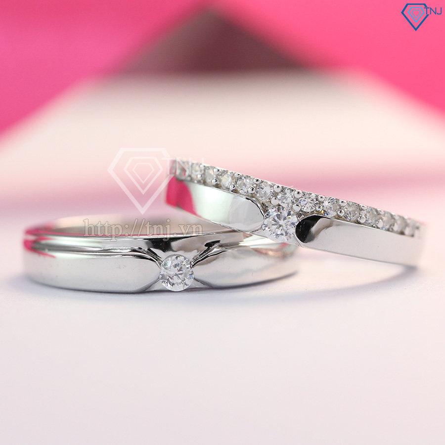 Nhẫn đôi bạc nhẫn cặp bạc đẹp khắc tên ND0270