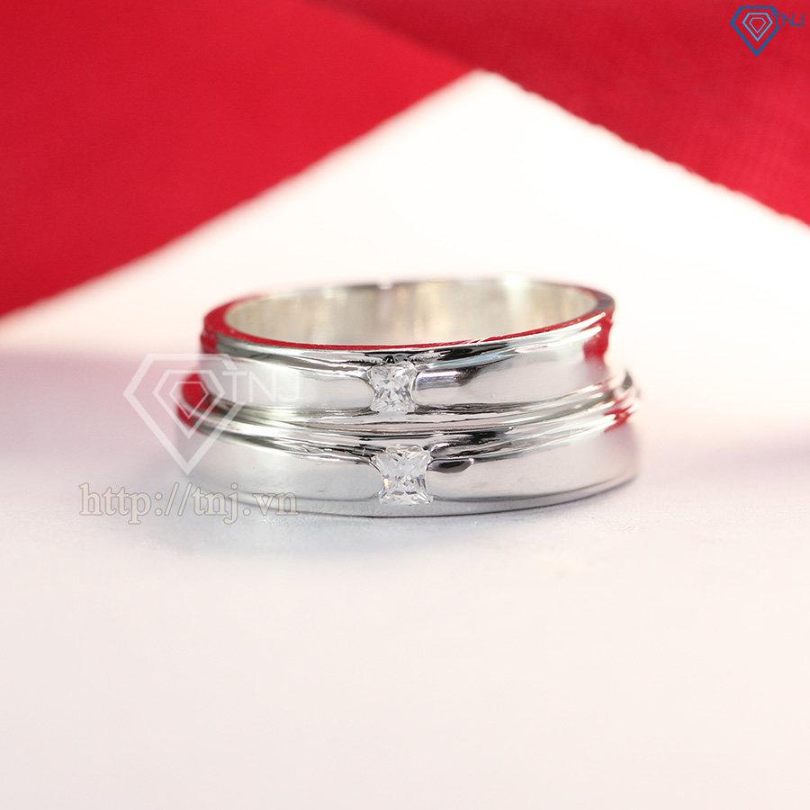 Nhẫn đôi bạc nhẫn cặp bạc đẹp khắc tên ND0271