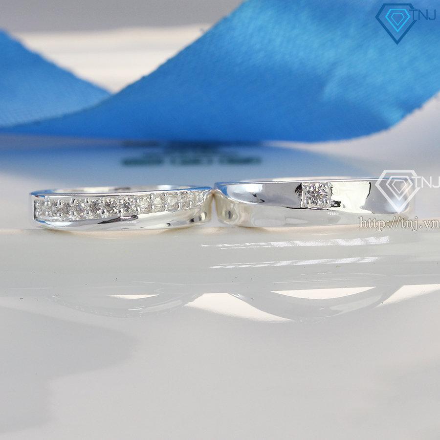 Nhẫn đôi bạc nhẫn cặp bạc đẹp khắc tên ND0275