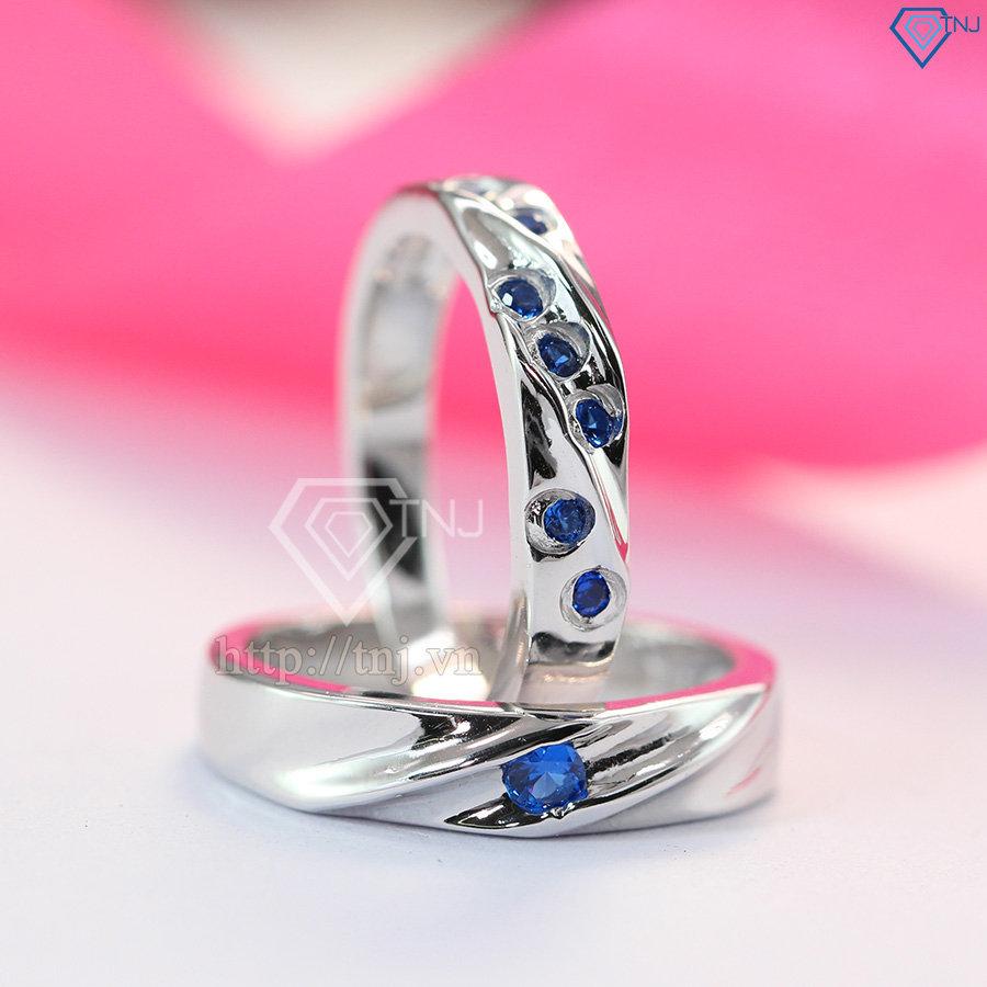 Nhẫn đôi bạc nhẫn cặp bạc đẹp ND0278