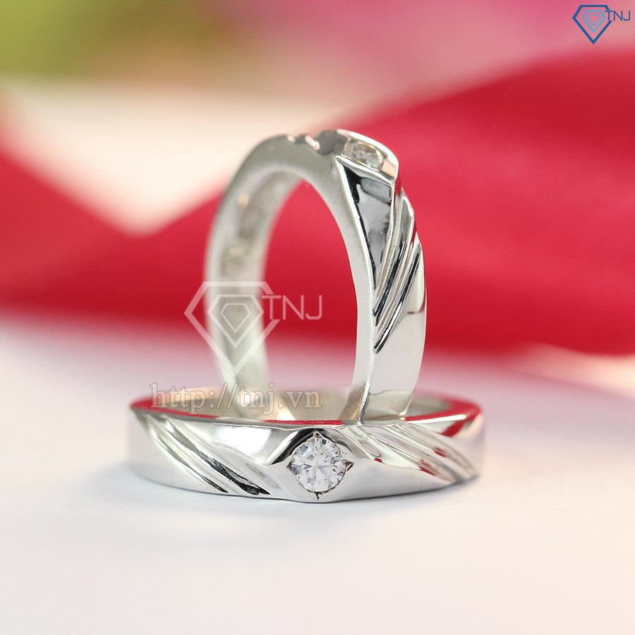 Nhẫn đôi bạc nhẫn cặp bạc đẹp khắc tên ND0283