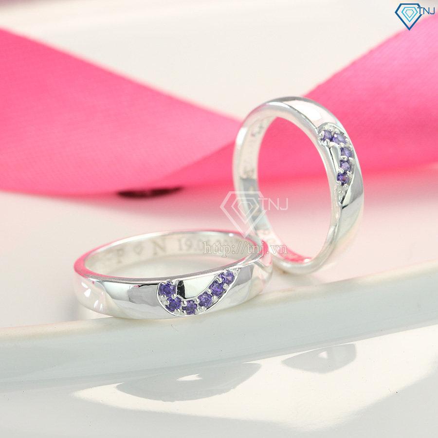 Nhẫn đôi bạc nhẫn cặp bạc tình nhân ND0286