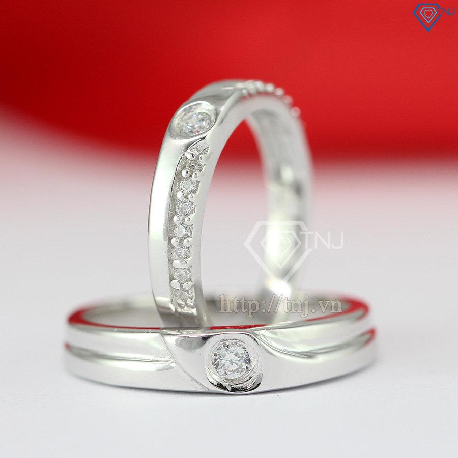 Nhẫn đôi bạc nhẫn cặp bạc đẹp ND0288