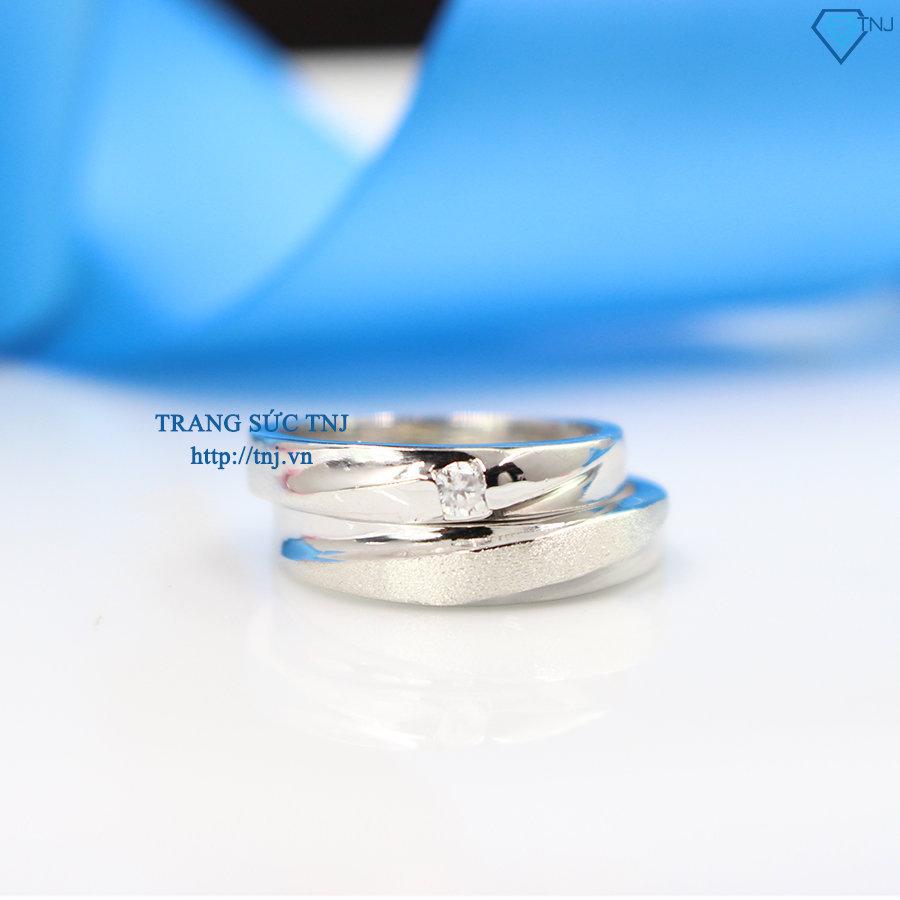 Nhẫn đôi bạc nhẫn cặp bạc đẹp khắc tên ND0289