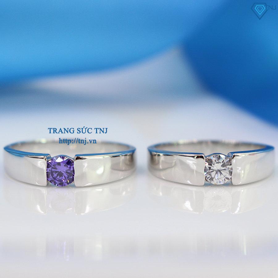 Nhẫn đôi bạc nhẫn cặp bạc đơn giản ND0290