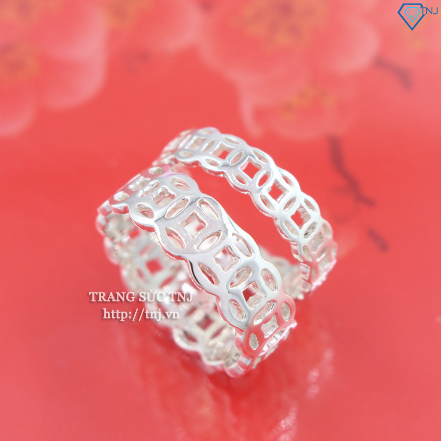 Nhẫn đôi bạc nhẫn cặp bạc kim tiền ND0316
