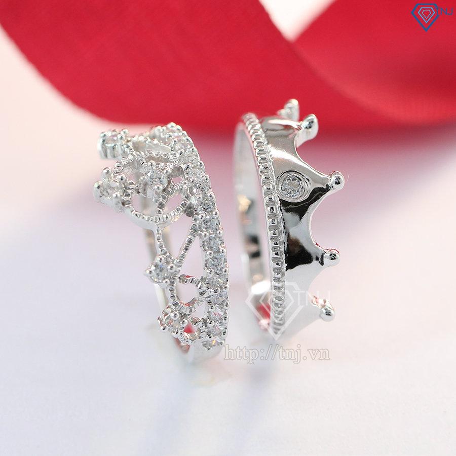 Nhẫn đôi bạc nhẫn cặp bạc King Queen ND0325