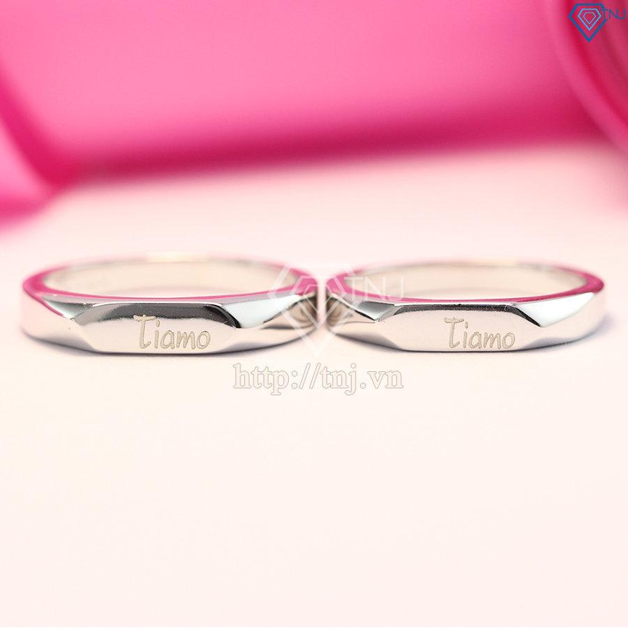 Nhẫn đôi bạc nhẫn cặp bạc khắc tên ND0344