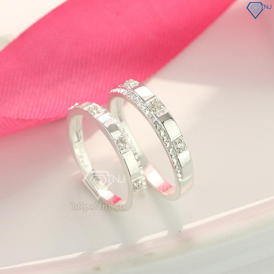 Nhẫn đôi bạc nhẫn cặp bạc đẹp ND0365
