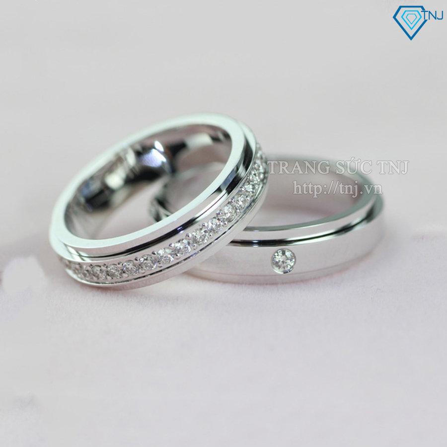 Nhẫn đôi bạc nhẫn cặp bạc đẹp ND0153