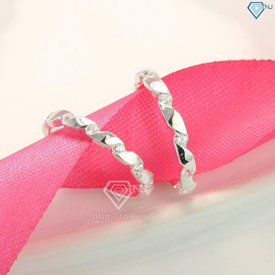 Nhẫn đôi bạc nhẫn cặp bạc đẹp ND0366
