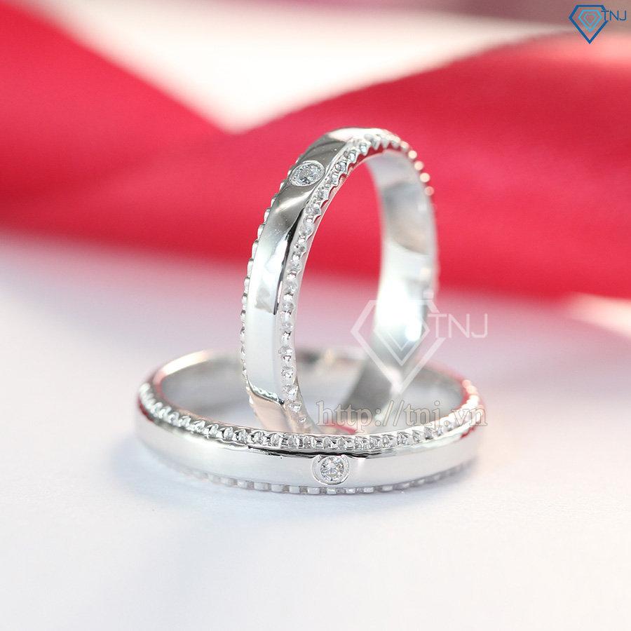 Nhẫn đôi bạc nhẫn cặp bạc đẹp đơn giản tinh tế ND0371