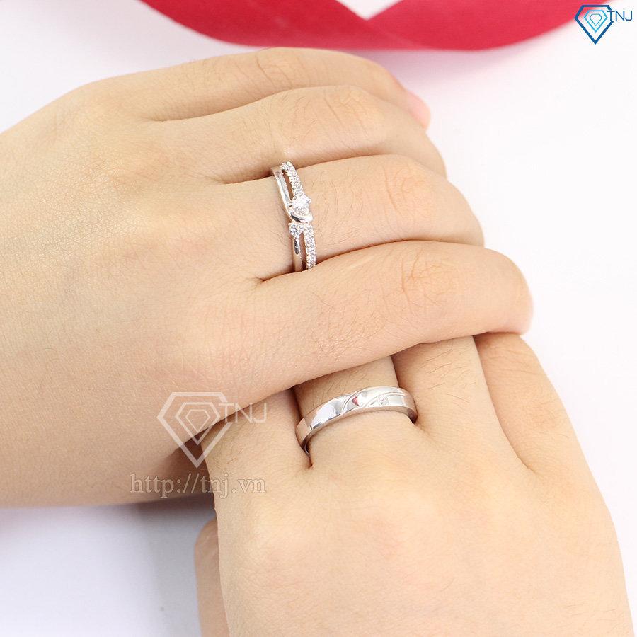 Nhẫn đôi bạc nhẫn cặp bạc đẹp ND0372