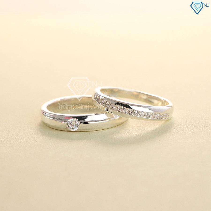 Nhẫn đôi bạc nhẫn cặp bạc đẹp ND0389