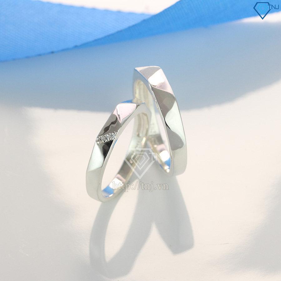 Nhẫn đôi bạc nhẫn cặp bạc tình nhân ND0393