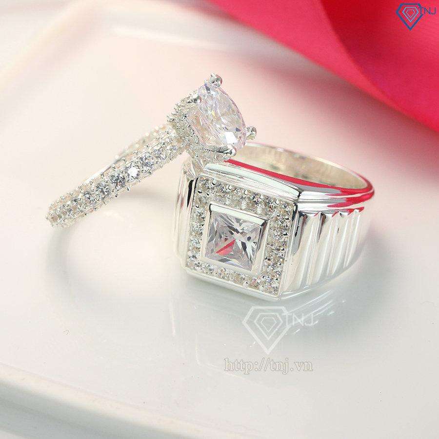 Nhẫn đôi bạc nhẫn cặp bạc đẹp sang trọng ND0394Nhẫn đôi bạc nhẫn cặp bạc đẹp sang trọng ND0394